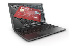 Black mobility laptop with interface. Stock Image