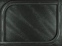 Black mock croc or alligator skin background with stitched patte. Rn. Large resolution Royalty Free Stock Image