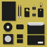 Black mock upstemplates for business for your design projects. Black mock ups/templates for business Stock Images