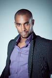 Black model in business suit Royalty Free Stock Photography