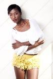 Black model in lingerie Stock Photography