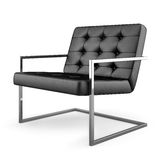 Black modern armchair isolated on white background 3D rendering Stock Photography
