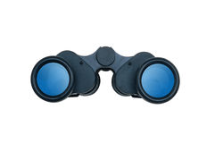 Black modern binoculars isolated on white Stock Photo