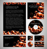 Modern Bubbles Graphic Business Layout Stock Images