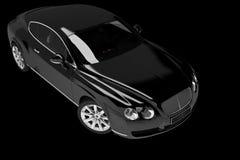 Black modern car Stock Photos