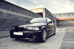 Black modern car, BMW E46 Coupe Stock Photos