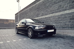 Black modern car, BMW E46 Coupe Stock Images