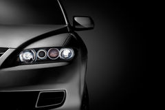 Black modern car closeup Royalty Free Stock Photo