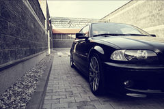 Black modern car Royalty Free Stock Photos