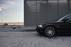 Black modern car Stock Photo