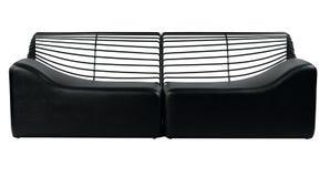Black modern design of sofa Royalty Free Stock Image