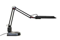 Black modern desk lamp Stock Images