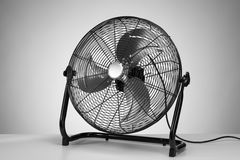 Black  modern electric fan on white Stock Photos