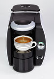 A black modern espresso coffee machine is making a coffee Stock Photography