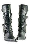 Black modern feminine shoes Royalty Free Stock Photo