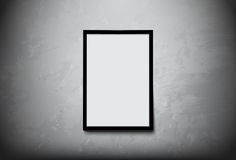 Black modern frame with white space for you text on Concrete Wall vector design Stock Photo