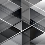 Black modern geometric abstract background Royalty Free Stock Photos