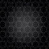 Black modern Geometric background. Gray patterned net lace on black background Royalty Free Stock Photography