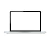 Black modern laptop on white Stock Image