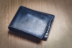 Black Modern Money Wallet For Male Stock Image