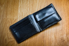 Black Modern Money Wallet For Male Stock Images