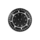 Black modern nautical compass deal isolated Stock Images