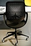 The modern office chairs. The black modern office chairs n royalty free stock photos