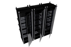 BLack Modern Server Racks Royalty Free Stock Photo