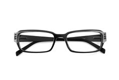 Black modern spectacles isolated Royalty Free Stock Photo