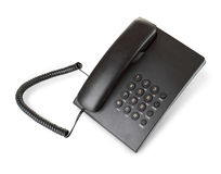 Black modern telephone Royalty Free Stock Photo