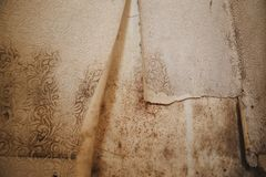 Black mold damage to home. Mold in the corner of your bathroom , in your residential building after renovation stock photos