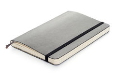 Black Moleskine notebook Stock Photos