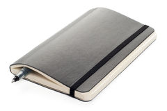 Black Moleskine notebook Royalty Free Stock Photo