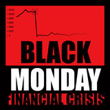 Black Monday. The financial crisis strikes again Stock Photo