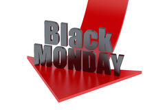 Black Monday - Falling of Tokyo Stock Exchange concept Stock Photography