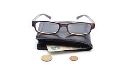 Black Money Purse Royalty Free Stock Photography