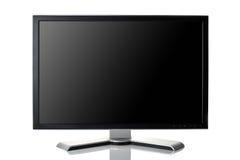 Black monitor. Isolated on white Stock Images