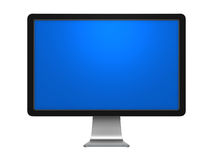 Black monitor. Isolated on white Stock Photo