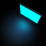 Black monitor. Isolated on dark Royalty Free Stock Photo