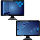 Black monitor with abstract screen Royalty Free Stock Photo