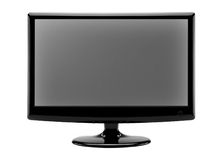Black monitor for computer Royalty Free Stock Photo
