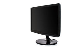 Black monitor computer Stock Photography
