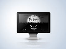 Black monitor for Halloween Stock Photos