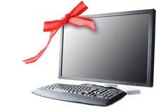 Black monitor and keyboard Stock Photography