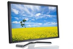 Black monitor white Royalty Free Stock Image