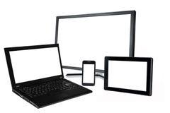 Black monitor white Royalty Free Stock Images
