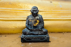 Black monk statue in Wat Phra Yai Temple Stock Image