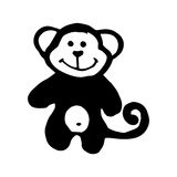 Black monkey caricature Stock Photo