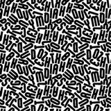 Black monochrome seamless pattern, decorative lowercase letters Royalty Free Stock Images