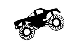 Black Monster Truck Silhouette Logo Stock Vector Illustration Of Power Motor 125756071